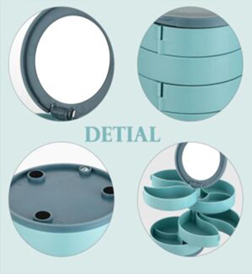 4 Layers Rotatable Space Saving Jewelry Box Organizer