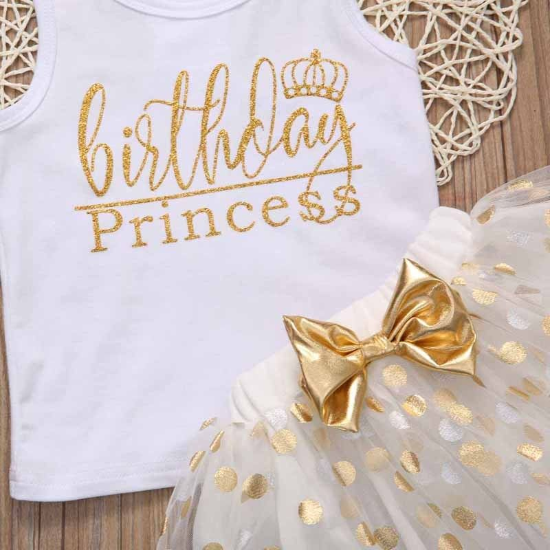 Kid Baby Girl Birthday Outfit