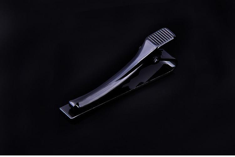 Simple Style Tie Clip for Men Silver Golden Black Metallic